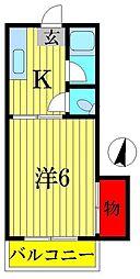山勝ハイツ[2階]の間取り