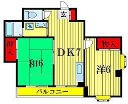 ワコー26[3階]の間取り