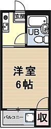 稲穂ハイツ[203号室号室]の間取り