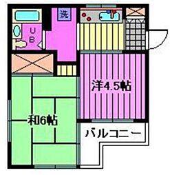 メゾンドールわらび[1階]の間取り