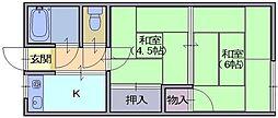 山田アパート[2F号室]の間取り