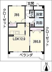 SPACEIII[2階]の間取り