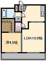 東京都荒川区南千住6丁目の賃貸マンションの間取り
