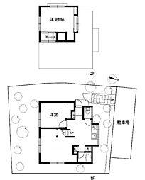 [一戸建] 神奈川県横浜市南区六ツ川2丁目 の賃貸【/】の間取り