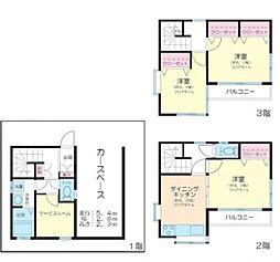 [一戸建] 東京都豊島区高松3丁目 の賃貸【/】の間取り