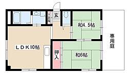 愛知県名古屋市名東区牧の原2丁目の賃貸マンションの間取り