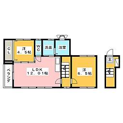 [一戸建] 静岡県三島市大場 の賃貸【/】の間取り