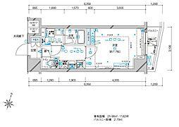 メインステージ板橋本町駅前II 5階1Kの間取り
