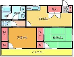 江川ハイツI[201号室]の間取り