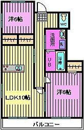 埼玉県さいたま市浦和区瀬ヶ崎3丁目の賃貸アパートの間取り