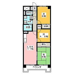 南仙台アルファビル[4階]の間取り