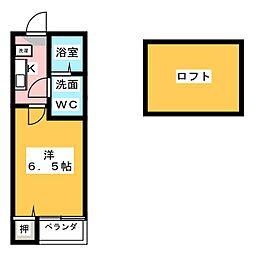 コンパートハウス本陣[2階]の間取り