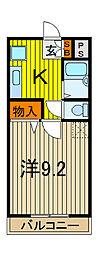 アーケティックマンションIII[2階]の間取り