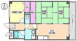 エクセル中央 803[8階]の間取り