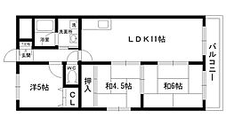 ローレルハイム大島[2階]の間取り