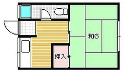 奥田コーポ[1階]の間取り
