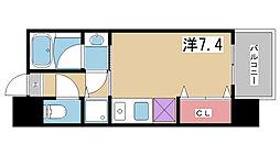 アーデンタワー神戸元町[1108号室]の間取り
