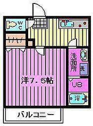 オリーブ北戸田[101号室]の間取り