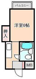日栄ビル[3階]の間取り