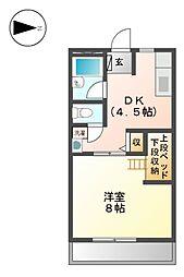 シティハイムサンライズ[2階]の間取り