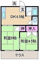 慈光荘[2階]の間取り