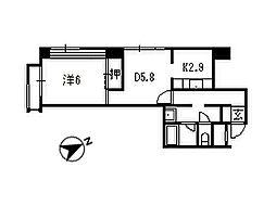 千葉県松戸市北松戸の賃貸マンションの間取り