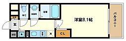 サムティ阿波座ベルシア 4階1Kの間取り