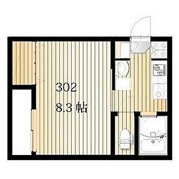 名古屋市営桜通線 桜本町駅 徒歩3分の賃貸アパート 3階1Kの間取り