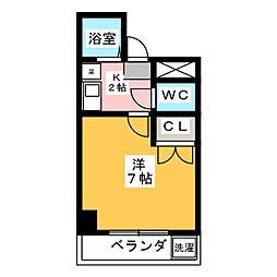愛知県名古屋市昭和区川名町5丁目の賃貸マンションの間取り