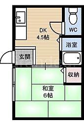 南野マンション[3階]の間取り