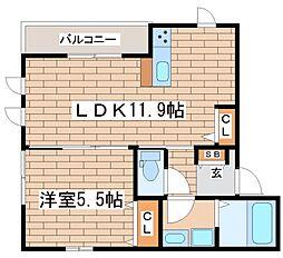 兵庫県神戸市長田区上池田1丁目の賃貸マンションの間取り