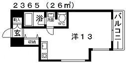 シィダーヴィレッジ[210号室号室]の間取り