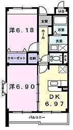 ファインヒル吉根A[305号室]の間取り