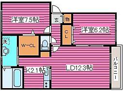 北海道札幌市東区北四十七条東15丁目の賃貸アパートの間取り