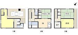 [一戸建] 神奈川県横浜市磯子区滝頭2丁目 の賃貸【/】の間取り