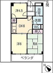 グレイスタウンMIWA A棟[1階]の間取り