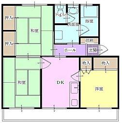 原田第2ビル 402、403、[303、307号室号室]の間取り