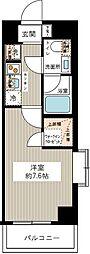 東京都江東区常盤1丁目の賃貸マンションの間取り