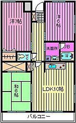 砂サンシャインシティ3番館[9階]の間取り