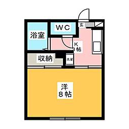 エステート台原[1階]の間取り