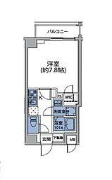 東急世田谷線 松陰神社前駅 徒歩4分の賃貸マンション 2階1Kの間取り