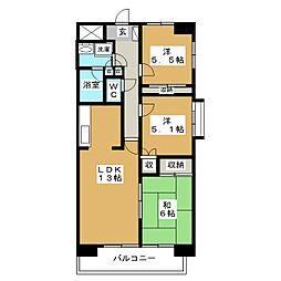 ローズコアコート[6階]の間取り