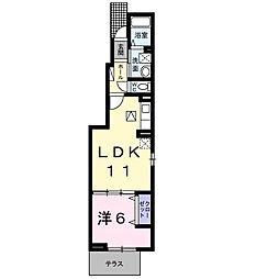 南海線 和泉大宮駅 徒歩10分の賃貸アパート 1階1LDKの間取り