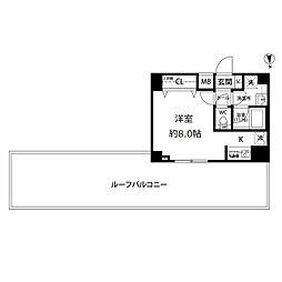 東京都江東区亀戸8丁目の賃貸マンションの間取り