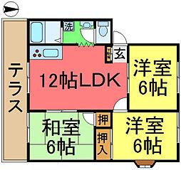 グローバルシティ弐番館[1階]の間取り