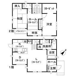 [一戸建] 千葉県松戸市八ケ崎7丁目 の賃貸【/】の間取り