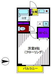 ローズパレットB[2階]の間取り