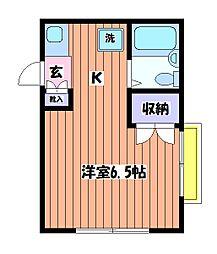 カーサ1/F[2階]の間取り