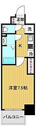 エスリード大阪城アクシス 10階1Kの間取り