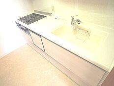 食器洗い乾燥機が備わった、システムキッチンです。